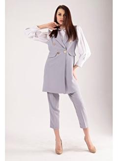 Belamore  Gri Yelek Pantolon İkili Takım 7701481.06